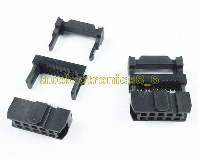 10PCS FC-10 2.54mm Pitch 2x5 Pin 10 Pin IDC FC Female Header Socket Connector AU