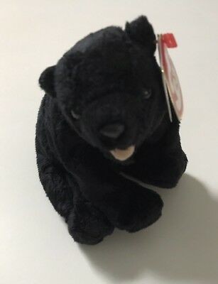 2000 Ty Beanie Baby Babies Cinders the Black Bear New with Tags
