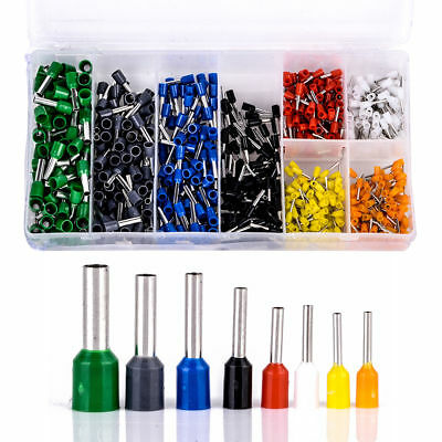 800Pcs Wire Copper Crimp Connector Insulated Cord Pin End Terminal Box AWG 22-10