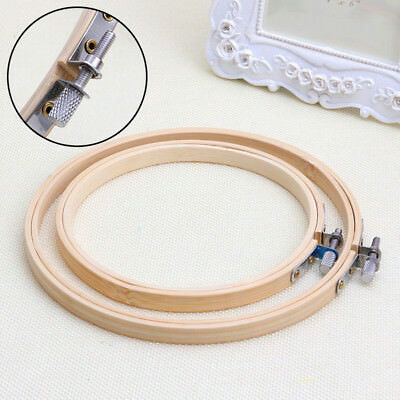 Bamboo Ring Hoop Wooden Sewing Hot 13-27cm Machine Embroidery Cross Stitch