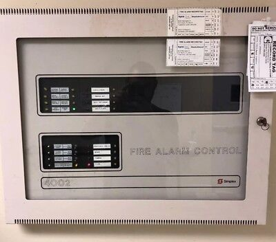 Simplex 4002 Fire Alarm Control Panel And Housing