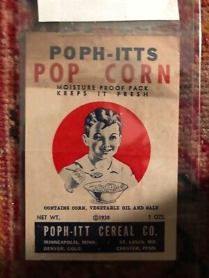 RARE!! Ad for POPH-ITTS CEREAL 1938 scarce piece of Americana