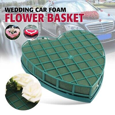 Heart Shape Flower Wet Foam Fresh Floral Wedding Car Table Flower Display Decor