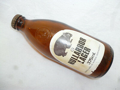 OLD COOPERS NULLABOR LAGER SMALL 375ml BEER STUBBIE & CAP - Pickaxe brand bottle