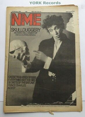 NEW MUSICAL EXPRESS NME - February 12 1983 - Richard Hell / Prince Charles