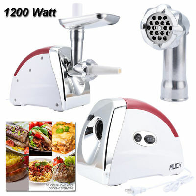 1200 Watt 2.6 HP Industrial Electric Meat Grinder Meats Grind 3 Speed w/3 Plates