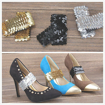 Sequin Shoe Strap Laces Band for holding loose high heeled shoe,Shoe decorations