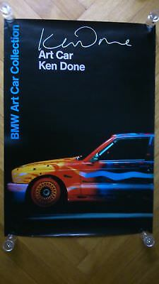 Bmw M3 E30 : Bmw M3 Art Car Ken Done E30 - Bmw Art Car Collection Poster 2002