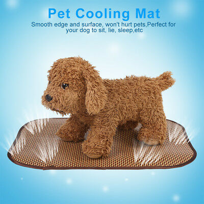 Summer Pet Dog Mat Cooling Bed Indoor Cool Gel Pad Rattan Mattress Comfort Mat