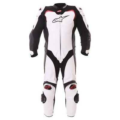Leather Grid Honda Red Motorbike Racing Leather Suit