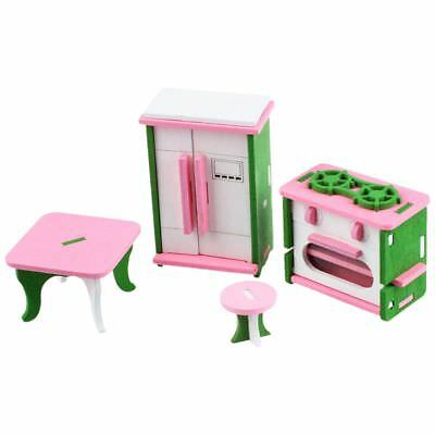 Baby Wooden Dollhouse Furniture Dolls House Miniature Child Play Toys Gifts H4S6
