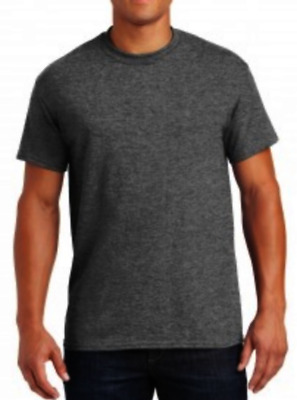Gildan Mens Adult Heavy Cotton Crew Neck Short Sleeve T-shirt Dark Gray 2XL