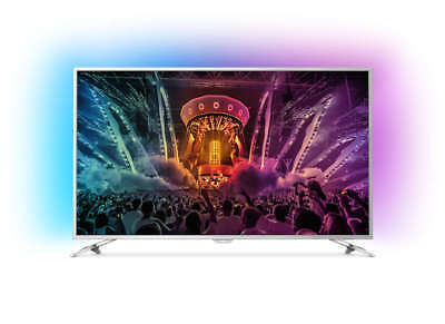 PHILIPS 55 Zoll/139cm 4K UHD Fernseher Android TV 55PUS6581/12 Ambilight silber