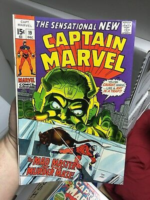 Captain Marvel #19! In VF Condition! RARE! LOOK!