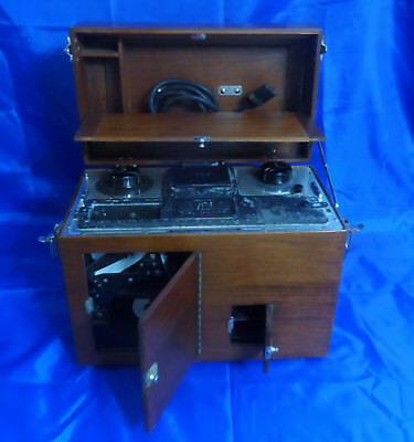 Antique Sanborn VISO EKG Medical Cardiette in Wooden Case With Read-Out