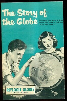 "1954 Replogle Globes ""The Story of the Globe"" Booklet"