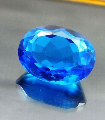 11.10Cts. Oval Cut Faceted Aaa Genuine London Blue Topaz Loose Gemstone