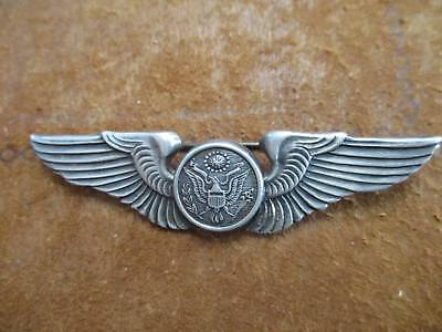 """Original WW2 era Angus & Coote Army Air Corp Crewman wing Sterling Silver 3 1/8"""""""