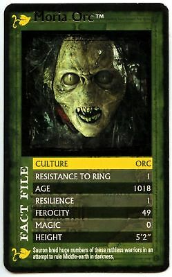 Moria Orc - The Lord Of The Rings F.O.T.R. Top Trumps Specials Card (C1123)