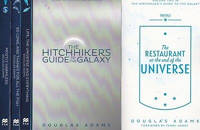 The Hitchhiker's Guide to the Galaxy by Douglas Adams 5 Book Set, Brand New