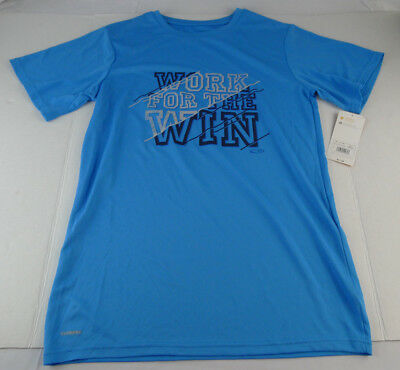 Boys Champion Duo Dry Shirt Work for the Win Blue XL X-Large 16-18 Athletic NWT