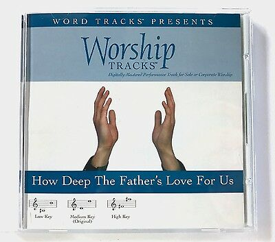 Worship Tracks - How Deep the Father's Love for us - accompaniment track cd new