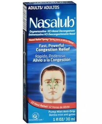 Nasalub Adults Nasal Spray Mist Oxymetazoline Cold Allergy Collectible 10/2017