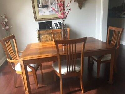 THOMASVILLE MISSION STYLE Dining Room Set Cherry Wood ...
