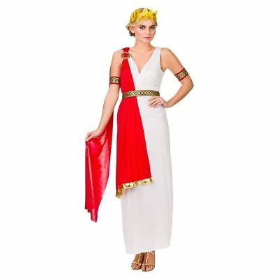 8-20 Ladies Glamorous Roman Lady Ancient Rome Costume Hen Night Fancy Dress Toga