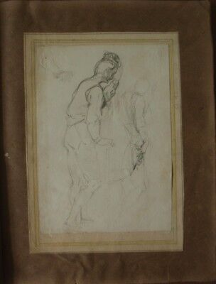 Alfred ELMORE RA Figure Study 1845 Pre-Raphaelite circle, Dante and DAN BROWN