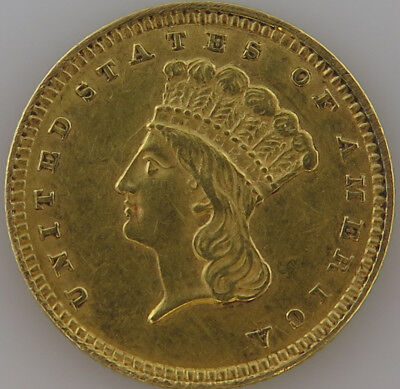 1857 $1 Indian Princess Type-3 Gold Coin