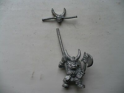 Warhammer Citadel classic 90s Black Orc with Axe and Cleaver oop