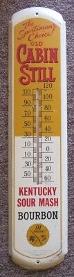 Vintage Old Cabin Still Kentucky Bourbon Whiskey Large Thermometer