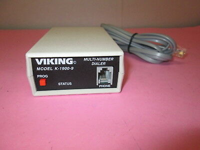 VIKING ELECTRONICS K-1900-9 SINGLE OR MULTI phone NUMBER DIALER Unit 100 #