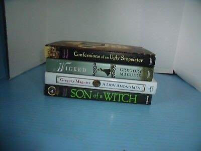 Lot Of 4 Gregory Maguire*wicked*son Of A Witch*a Lion Among Men*confessions Of..