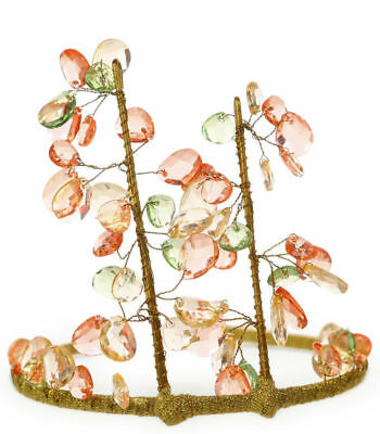 Princess Paradise Deluxe Green & Pink Woodland Fairy Queen Child Tiara