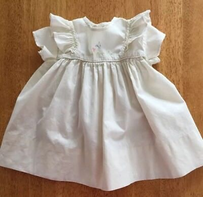 Vintage Baby Colthes Dress 👶🏻 Nannette 👶🏻Size 12 Month Embroidered Easter