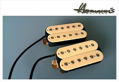 Vintage Humbucker Alnico V Pick Up Set, Handgewickelt, Cremefarben, Top Sound