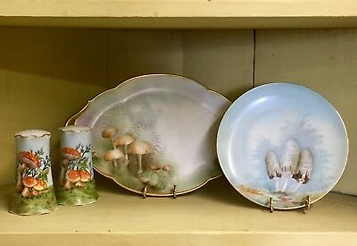 MUSHROOM! HAND PAINTED PORCELAIN ~ LOVELY COLLECTION of LIMOGES, MZ AUSTRIA