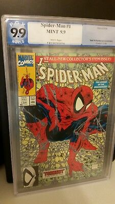 Spiderman #1 Graded 9.9 Pgx Mint!! White Pages Mcfarlane
