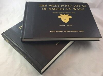 2v Set 1689-1953 The Westpoint Atlas of American Wars Maps Detailed Study