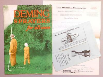 1928 Deming Sprayers Catalog with letter to customers & order mailer   Blk4