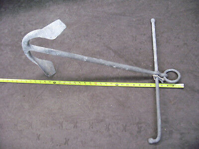 "antique pick anchor, 28"" x 24', galvanized , 10 lb. , Kedge admiralty, folds up"