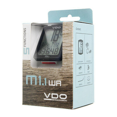 New 2016 VDO M1 WL Wireless Bike Cycle Computer Bicycle Speedometer