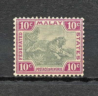 (Nnak 332) Federated Malay States 1901 Mlh Mich 20