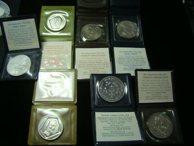 Israel Group Of 7 B.U. Or Proof Silver Coins Nice!!