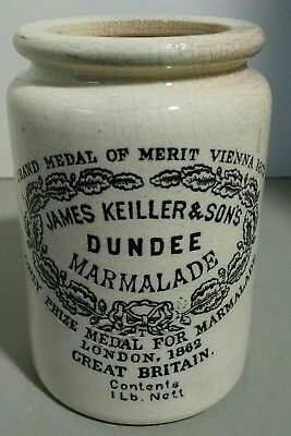 James Keiller Son Dundee Marmalade Ceramic Pottery Jar Crock London 1862/1873