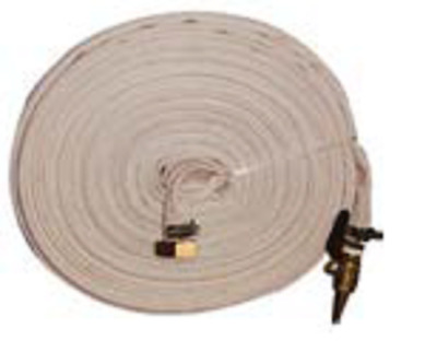 New FIRE FIGHTING HOSE Canvas with Brass Fittings 30m Fire Water Transfer Pump