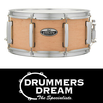 "Pearl Modern Utility 14x6.5"" Snare Drum 6-ply Maple Shell Matte Natural Finish"