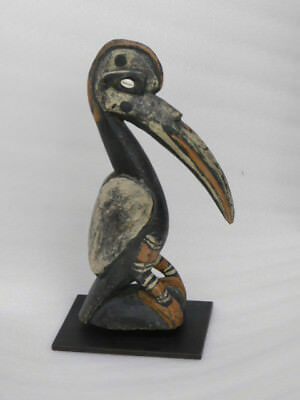 "vtg. Papua New Guinea Sepik River hand carved Subut Bird Figure 15"" tall"